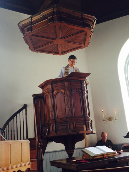 Pastor Jeff in ODC Pulpit